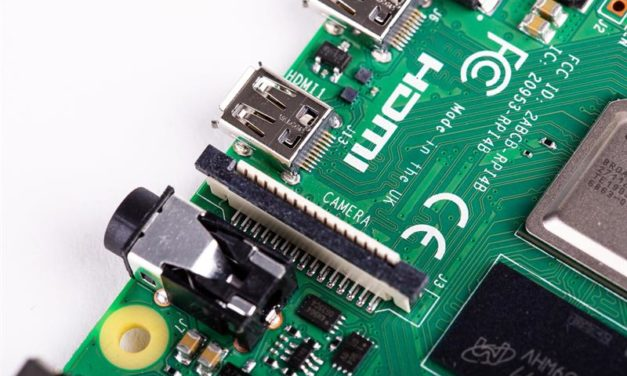 A Raspberry Pi 4 GPIO portja