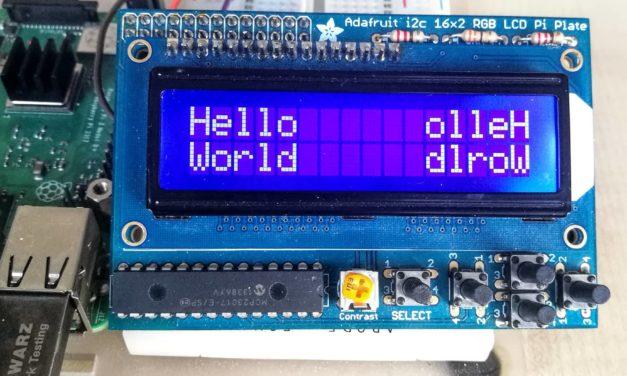 I2C-s kijelzők Raspberry Pi-hez – 2. 16×2-es LCD kijelző