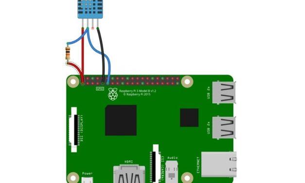 DHT szenzorok alkalmazása Raspberry Pi számítógéppel
